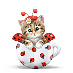 Kitten Ladybug Figurine From Artist Kayomi Harai