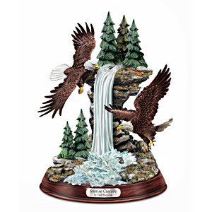 "Ted Blaylock ""Sunrise Cascade"" Eagle Sculpture"