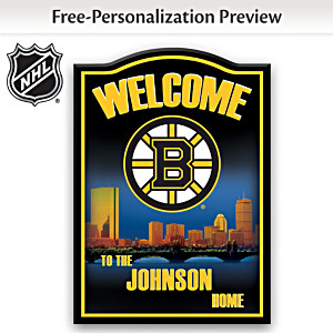 Boston Bruins® Welcome Sign Personalized With Name