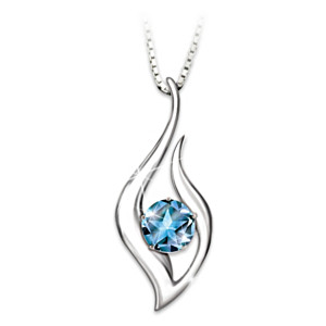 """Reach For The Stars"" Blue Topaz Necklace For Granddaughter"