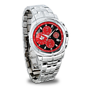 Firefighter Chronograph Watch With Engraved Prayer