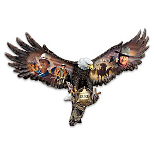 John Wayne American Eagle Tribute Wall Sculpture