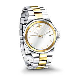 "The ""Light Of Faith"" Men's Watch With Swarovski Crystal"
