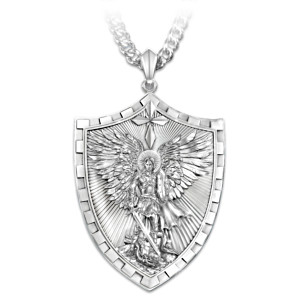 Triumph Of St. Michael Pendant Necklace For Sons