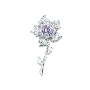 Sovereign Rose Brooch Inspired By The Williamson Brooch