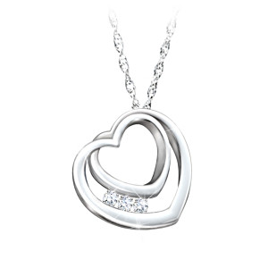 """Daughter, I'll Love You Forever"" Engraved Topaz Necklace"