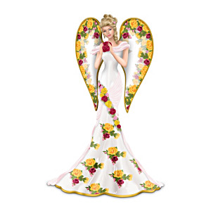 Blessing Of The Rose Garden Angel Figurine