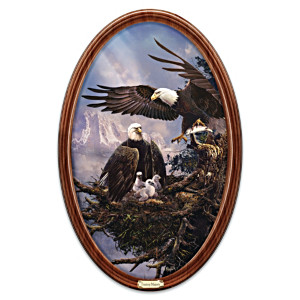 "Ted Blaylock ""Treetop Majesty"" Framed Collector Plate"