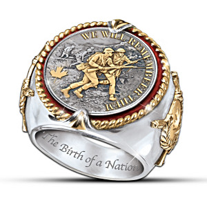 Men's Ring Honouring The Victory That United Canada Forever