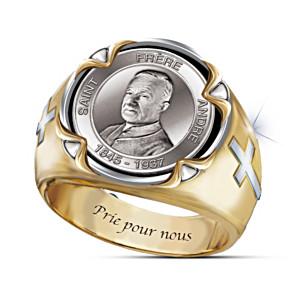 Saint André Portrait Men's Ring