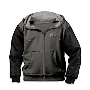 """Freedom Rider"" Men's Hooded Biker Jacket"