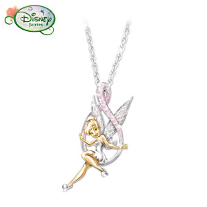 """Believe In The Cure"" Tinker Bell Pendant"
