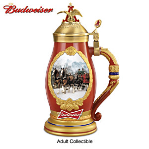"""Budweiser Timeless Traditions"" Heirloom Porcelain Stein"