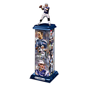 New England Patriots Tom Brady Illuminating Sculpture