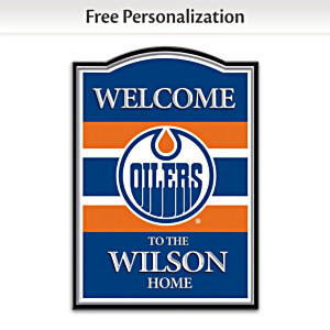 Edmonton Oilers® Welcome Sign Personalized With Name