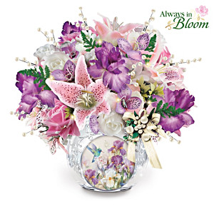 Lena Liu Always In Bloom Lighted Crystal Centrepiece