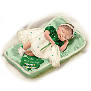 """Wee Irish Blessings"" Baby Doll: Personalize Her Pillow"