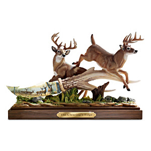Persis Clayton Weirs Deer Art Porcelain Knife Sculpture
