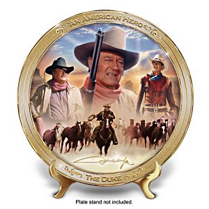 """An American Hero: John Wayne"" Tribute Collector Plate"