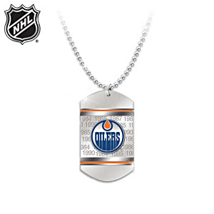 Edmonton Oilers® Dog Tag Pendant Necklace