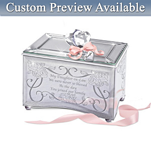 Personalized Mirrored Music Box For Daughters-In-Law