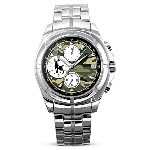 """Crossing Paths"" Men's Chronograph Watch With Camo Face"