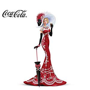 COCA-COLA Elegant Lady Figurine With Swarovski Crystals