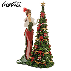 "2014 COCA-COLA ""A Timeless Tradition"" Annual Lady Figurine"