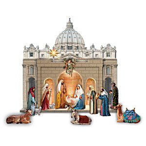 """""""The Holy Family"""" St. Peter's Square Nativity Figurine Set"""