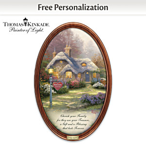 Thomas Kinkade Family Treasures Plate With Your Family Name