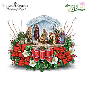 Nativity Crystal Centrepiece Inspired By Thomas Kinkade