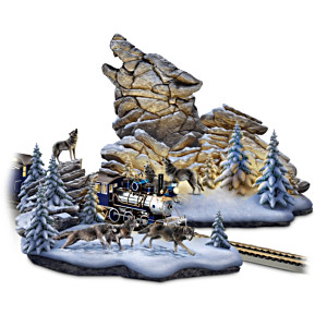 "Al Agnew ""Wolf Mountain Pass"" Landscape Sculpture Set"