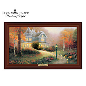 Thomas Kinkade Autumn Blessings Illuminating Canvas Print