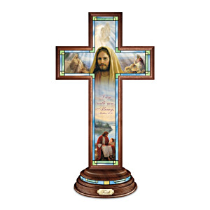 Greg Olsen Illuminated Stained-Glass Faith Cross