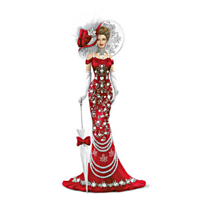 Lady Canada Figurine With Swarovski Crystals
