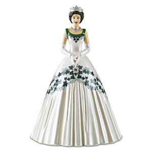 "Queen Elizabeth II ""Maple Leaf Of Canada Dress"" Figurine"
