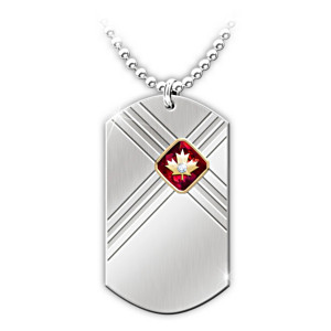 """Lest We Forget"" Commemorative Dog Tag Diamond Necklace"