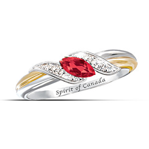 """The Spirit Of Canada"" Diamonesk Embrace Ring"