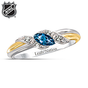 Toronto Maple Leafs® Pride Engraved Embrace Ring