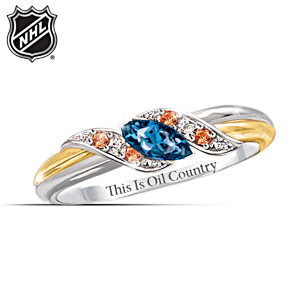 Edmonton Oilers® Pride Engraved Embrace Ring
