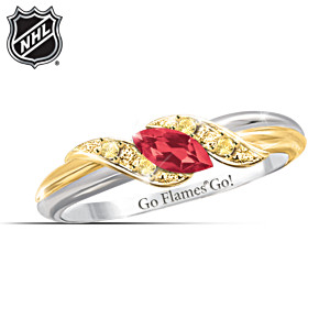 Calgary Flames® Pride Engraved Embrace Ring