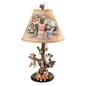 "Jürgen Scholz ""Country Kitties"" Accent Lamp"