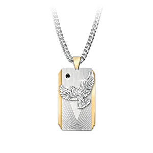 """Seize The Day"" Dog Tag-Style Pendant Necklace For Sons"