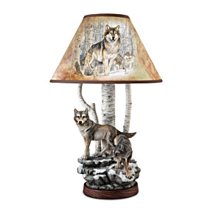 Al Agnew Spirits Of The Forest Table Lamp