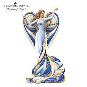 Thomas Kinkade Angel Figurine With Swarovski Crystal Heart