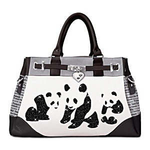 """Panda Glamour"" Handbag With Adjustable Detachable Strap"