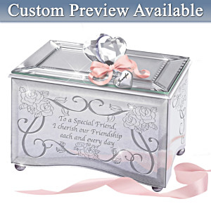 """""""Reflections Of A Special Friend"""" Personalized Music Box"""