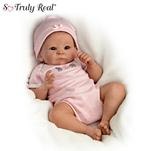 "Tasha Edenholm ""Little Peanut"" Lifelike Poseable Baby Doll"