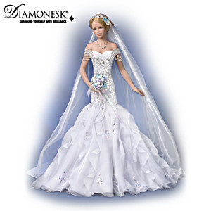 """Sparkling Promise"" Porcelain Bride Doll By Tatiana Tofaneto"