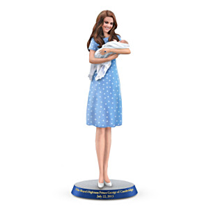 Duchess Catherine And Newborn Prince George Figurine